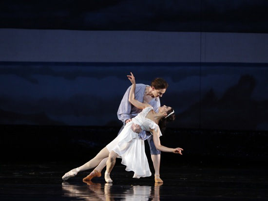 Sarah Lane and Joseph Gorak, the first-cast Miranda and Ferdinand in Ratmansky's The Tempest