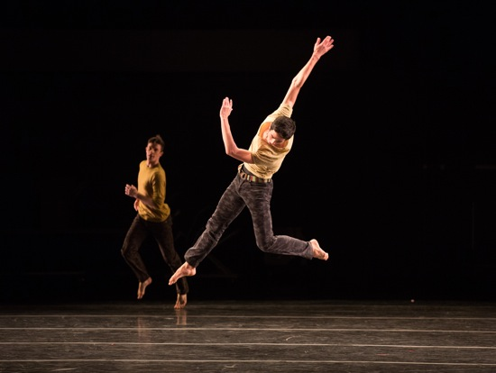 Jessie Obremski (foreground) and Nobel Lakaev in Brian Brooks's Torrent. Photo: Rosalie O'Connor