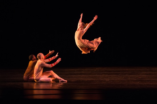 (L to R): Jeremy Coachman, Jordan Lefton, and Solana Temple in Darrell Grand Moultrie's Seeds of Endurance. Photo: Rosalie O'Connor