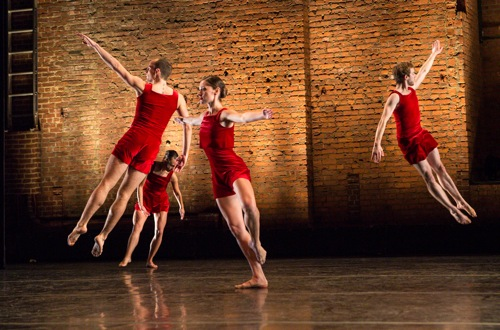 (L to R): Max King, Vincent McCloskey, Melissa Toogood, and Andrew Champlin in Tanowitz's Heaven On One's Head. Photo: Yi-Chun Wu. Photo: Yi-Chun Wu