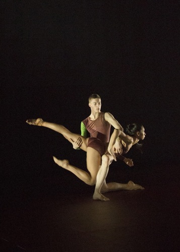 Fukiko Takase and Travis Clausen-Knight in Atomos. Photo: Ravi Deepres