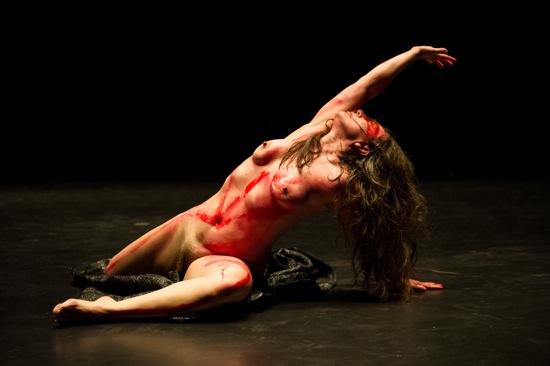 Luciana Achugar in her solo Otro Teatro. Photo: Ian Douglas