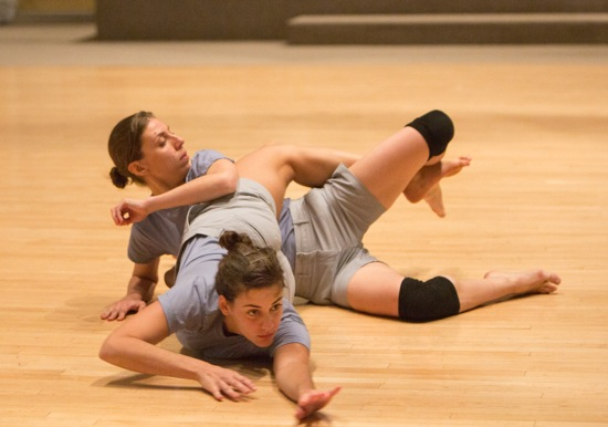 Nibia Pastrana Santiago (front) and Karina Andreou in Day 1, Hearts of DD Dorvillier's A Catalogue of Steps—St. Mark's Collection 2014. Photo: Yi-Chun Wu