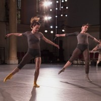 (L to R): Kate Jewett and Chelsea Retzloff at the dress rehearsal for Map. Photo: Juan Vargas