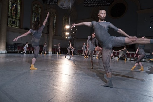Dress rehearsal of Shen Wei's Map at Judson Church. (foreground: Guanglei Hui). Photo: Juan Vargas