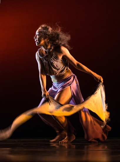Roxane D'Orleans Juste in Dianne McIntyre's She Who Carries the Sky. Photo: Joseph Schembri