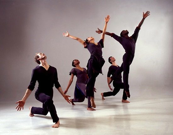 An earlier group of Limón Dance Company members performs Limón's Psalm. Photo: Beatriz Schiller