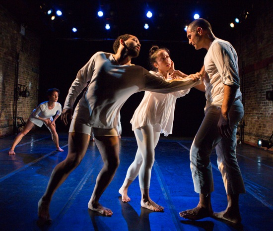 (L to R) Christopher Ralph, Anna Schön, and Tan Temal in Rebecca Lazier's There Might Be Others.  Photo: Yi-Chun Wu