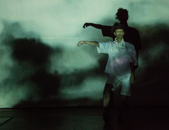 Miriam Parker and her shadow in π=3.14.  Photo: Yi-Chun Wu