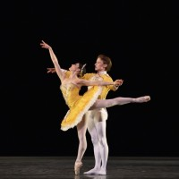 Sarah Lane and Danil Simkin in George Balanchine's Theme and Variations. Photo: Gene Schiavone