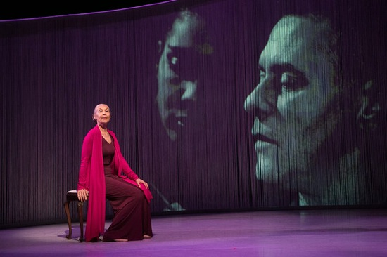 Carmen de Lavallade in front of a picture of herself and Lester Horton. Photo: Christopher Duggan
