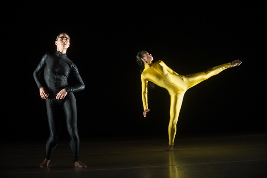 Candice Schnurr (L) and Jye-Hwei Lin in Grass and Jackals. Photo: Christopher Duggan