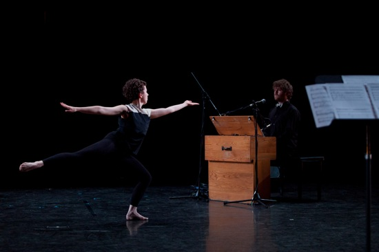 Macy Sullivan (L) and Gabriel Kahane in John Heginbotham's Chalk and Soot. Photo: Jamie Kraus