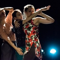 (L to R): Maggie Thom, Jodi Melnick,and Emmagrace Skove-Eppes in Melnick's Moment Marigold. Photo: Ian Douglas