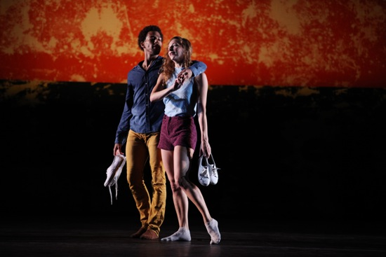 Anthony Bryant and Rachelle Rafailedes in Justin Peck's Murder Ballads. Photo: Julieta Cervantes