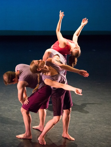 (L to R): Dallas McMurray, Jenn Weddel, and Rita Donohue in Mark Morris's Words. Photo: Ani Collier