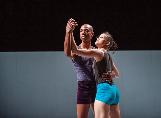 Shamel Pitts and Iyar Alezra in Ohad Naharin's Sadeh21. Photo: Stephanie Berger