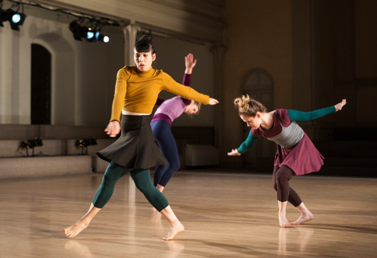 (L to R): Pareena Lim, Jessica Weiss, and Evelyn Wheeler in I Am With You. Photo:  Yi-Chun Wu