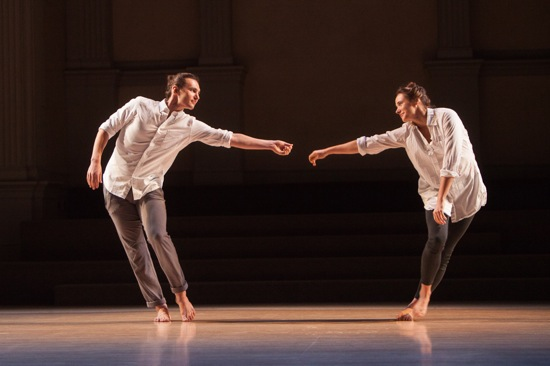 Michael Ingle and Alexandra Albrecht in the last part of I Am With You. Photo: Yi-Chun Wu