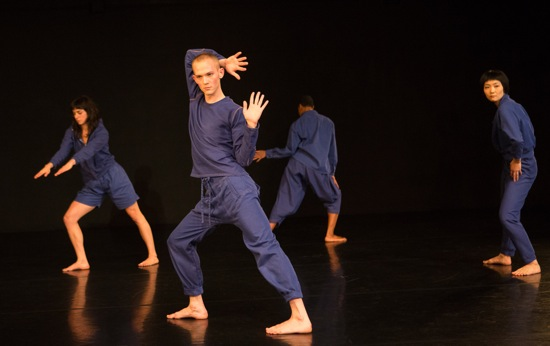 Neil Greenberg's This. (L to R): Molly Lieber, Connor Voss, Omagbitse Omagbemi. and Mina Nishimura. Photo: Yi-Chun Wu