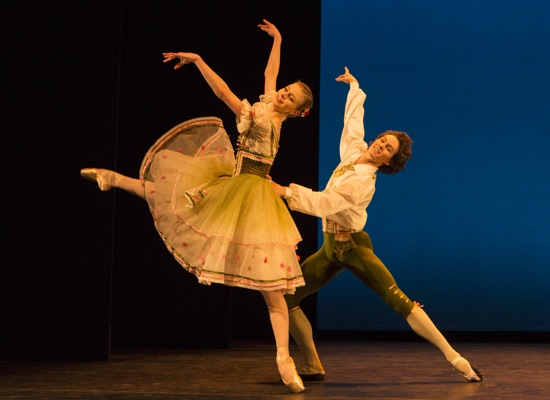 Ida Praetorius and Andreas Kaas in the pas deux from The Flower Festival in Genzano. Photo: Yi-Chun Wu