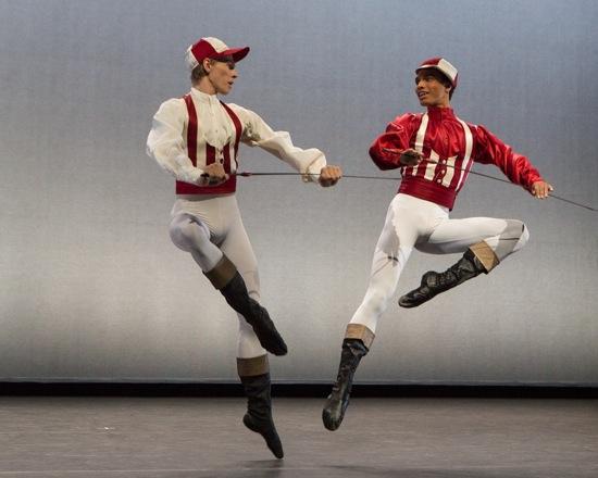 "Marcin Kupinski (L) and Sebastian Haynes in ""Jockey Dance"" from From Siberia to Moscow. Photo: Yi-Chun Wu"
