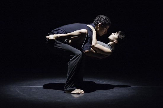 Joseph Hernandez and Natasha Adorlee Johnson in Kate Weare's Drop Down. Photo: Keira Heu-Jwyn Chang