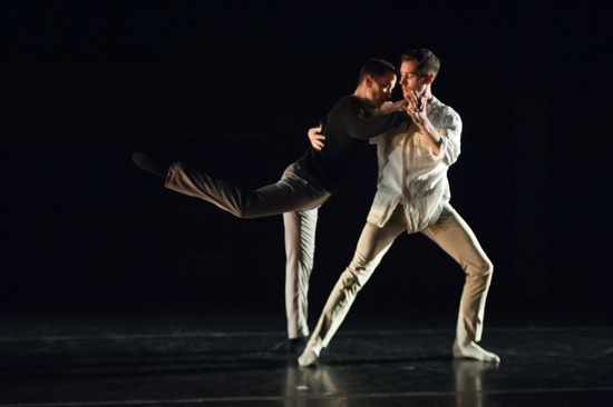 Douglas Gillespie (L) and T.J. Spaur in Kate Weare's Volver. Photo: Keira Heu-Jwyn Chang