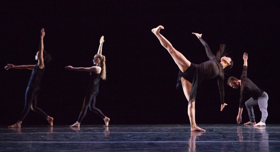 Liz Gerring's Lamentation Variation. (L to R): Natasha M. Diamond-Walker, Charlotte Landreau, Ying Xin, and Tadej Brdnik. Photo: Yi-Chun Wu