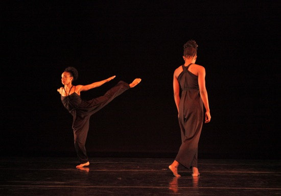 """Annique Roberts (L) and Coral Dolphin in """"March"""" from Ronald K. Brown's Lesson. Photo: Ayodele Casel"""