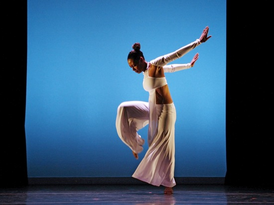 Clarice Young of Evidence: A Dance Company in Ronald K. Brown's Grace. Photo: Ayodele Casel
