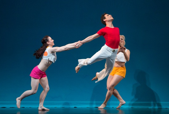 Eran Bugge (L) and Aileen Roehl at play with Francisco Graciano in Taylor's Sea Lark. Photo: Yi-Chun Wu