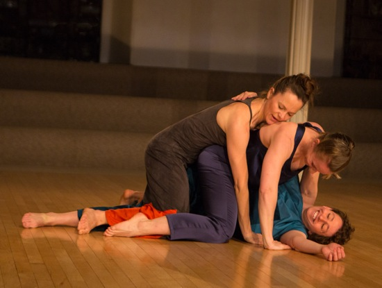 (L to R): Katie Workum, Weena Pauly, and Eleanor Smith in Workum's Black Lakes. Photo: Yi-Chun Wu.