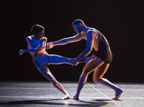 Jaqlin Medlock and Barrington Hinds in Stephen Petronio's Locomotor/ Non Locomotor. Photo: Yi-Chun Wu