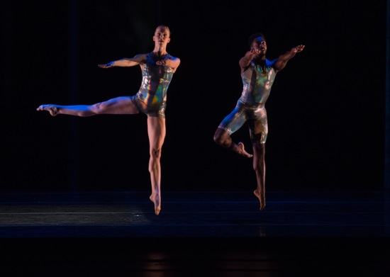 Solana Temple and Jeremy Coachman in Merce Cunningham's Biped. Photo: Rosalie O'Connor
