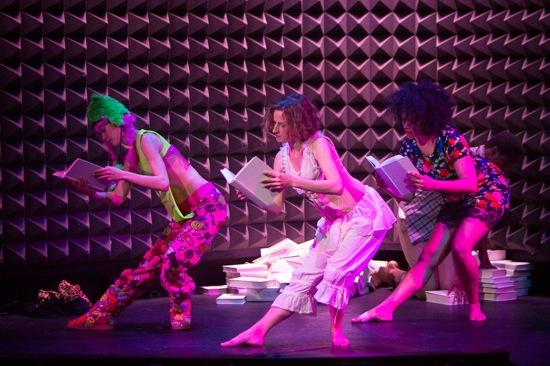 L to R: Mei Yamanaka, Abigail Levine, and Leslie Cuyjet in NEWYORKnewyork@Astor Place. Photo: Yi-Chun Wu