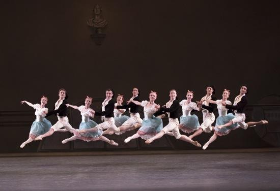 New York City Ballet dancers in Bournonville Divertissements. Photo: Paul Kolnik