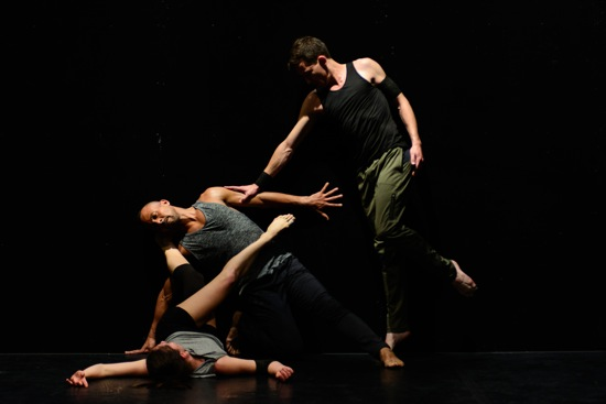 (L to R): Melissa Toogood, Marc Mann, and Dylan Crossman in Kimberly Bartosik's  Marc Mann in Kimberly Bartosik's Ecsteriority 4 (Part 2). Photo: Ryutaro Mishima