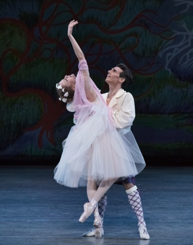 The sylph cannot be possessed, and her lover has unwittingly caused her to expire. Sterling Hyltin and Joaquin De Luz in the final moments of August Bournonville's La Sylphide. Photo: Paul Kolnik