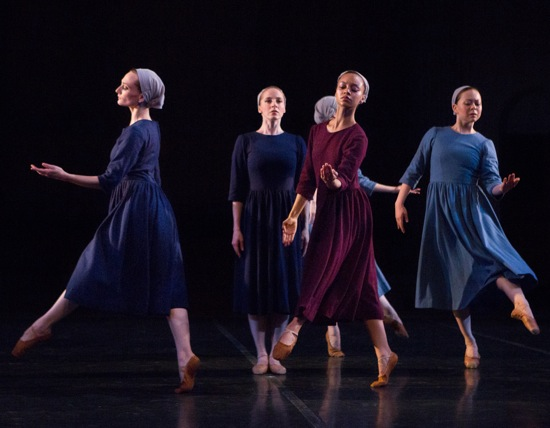 Carmella Lauer (center) in Antony Tudor's Dark Elegies, with (L to R): Amanda Treiber, Nayomi Van Brunt, and Rie Ogura. Photo: Yi-Chun Wu