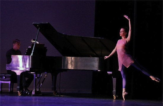 Ashley Tuttle with pianist Michael Scales in Pam Tanowitz's Solo. Photo: Cory Weaver