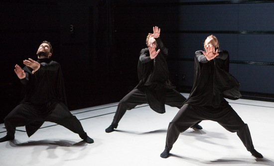 (L to R): Matthew Branham, Erik Nyberg, and Sophie Augot in Kenneth Kvarnström's Pipe. Photo: Yi-Chun Wu