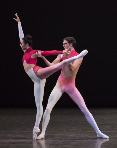Brittany Pollack and Peter Walker in Justin Peck's New Blood. Photo: Paul Kolnik