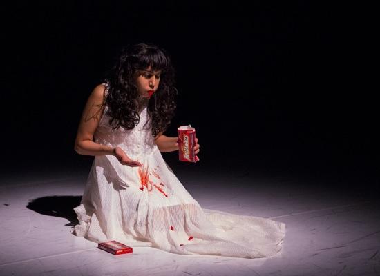 Sruti Desai gorging on sweets she cannot eat. Photo: Marina Levitskaya