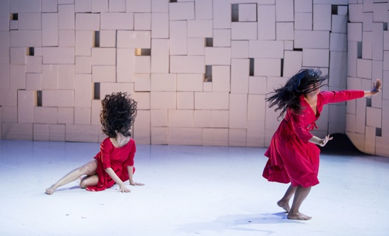 Sruti Desai (L) and Cheryl Delostrinos in Girl Gods. Photo: Marina Levitskaya