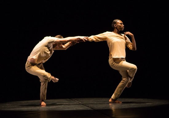 Matthew Baker and Penda N'Diaye in Kyle Abraham's The Quiet Dance. Photo: Yi-Chun Wu