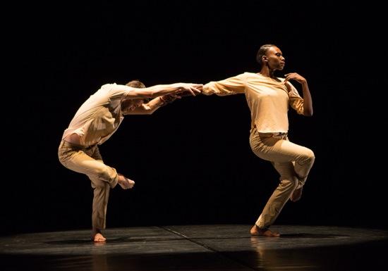 Matthew Baker and Penda N'Diaye in Kyle Abraham's The Quiet Dance. Photo: Yi-Chun Wu