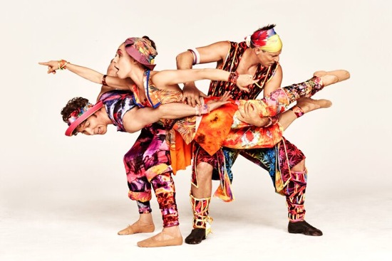 Is that a familiar leg? (L to R): Ron Todorowski, Amy Ruggiero, and John Selya in Twyla Tharp's Yowzie. Photo: Ruven Afanador