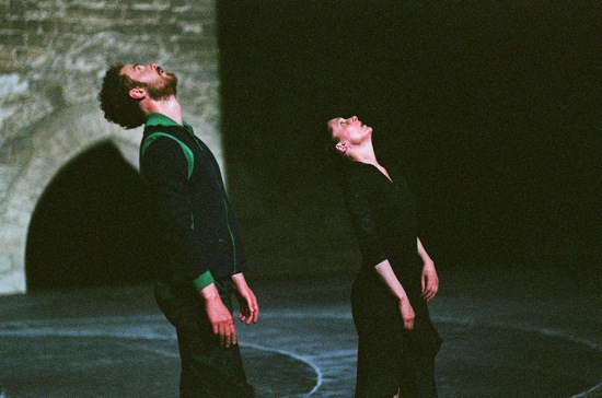 Boris Charmatz and Anne Teresa De Keersmaeker in an earlier production of Partita 2. Photo: © Anne Van Aerschot