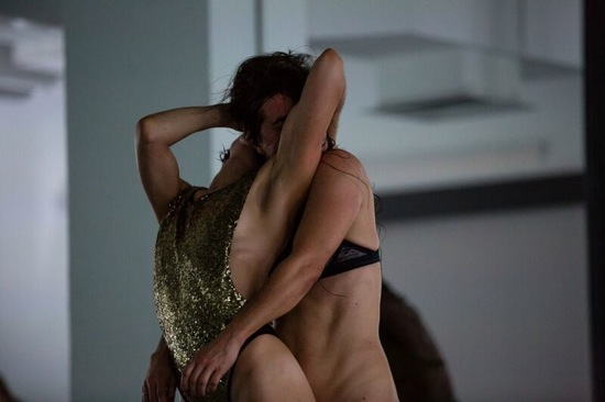 Molly Lieber and luciana achugar in achugar's An Epilogue for OTRO TEATRO: True Love Photo: Scott Shaw